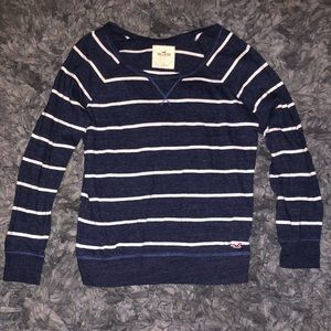 5/$20 Hollister size small blue/white striped top